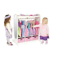 Dress Up Mirror Bedroom Kid Storage White Furniture Closet New