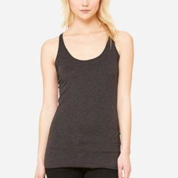 Custom Ladies' Triblend Racerback Tank