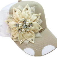Blingggd flower trucker hat