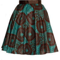 Style Icon's Closet 50s style Vintage Inspired Pin-Up African Print Retro Rockabilly Clothing — African Tribal Print 50s style Skirt