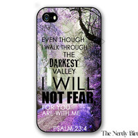 Psalms 23:3 Bible Verse iPhone 4, 5, 5C, 6 and 6 plus and Samsung Galaxy s3, s4, and s5 Phone Case