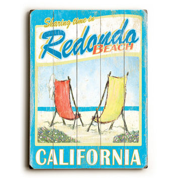 Personalized Beach Chairs Wood Sign