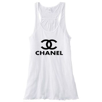 Chanel Top Women's Flowy Racerback Tank