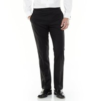 Marc Anthony Modern-Fit Flat-Front Wool Black Tuxedo Pants