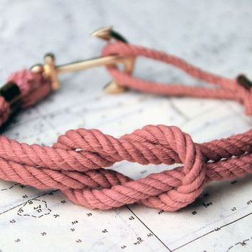 Asterly's Dock Pink Sunset Triton Knot Bracelet by Kiel James Patrick