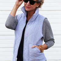 Too Cool Seersucker Vest {Blue}