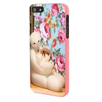 Big Hero 6 Baymax Floral Disney iPhone 5 Case Framed Pink
