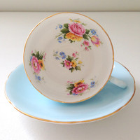 Vintage English Fine Bone China Royal Stafford Tea Cup & Saucer Wedding, Thank You or Housewarming Gift Inspiration