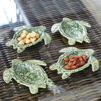 TURTLE OUTDOOR SALAD PLATE & SNACK BOWL, SET OF 4