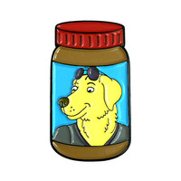 Mr. Peanutbutter Peanut Butter, the enamel pin