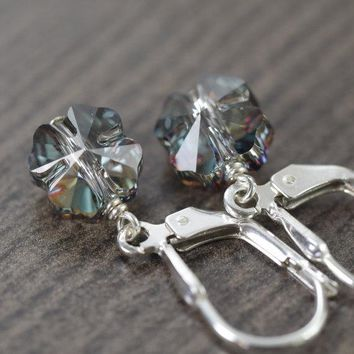 Four leaf Clover earrings made of Swarovski crystals