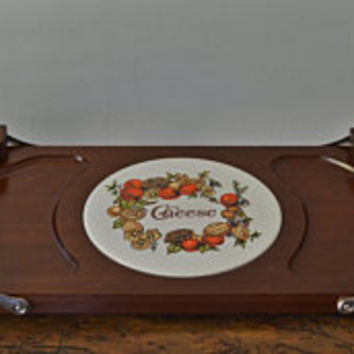 Vintage Expandable Cheese Tray, Wood  Cheese Board