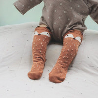 1Pair/lot Fashion Unisex Fox Baby Leg Warmers 3D Socks For Kids Children Grey Brown Scaldamuscoli Bambina Calentadores Piernas