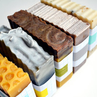 Your Choice of THREE Bars of Soap! 5 oz all natural handcrafted vegan vegetarian skincare