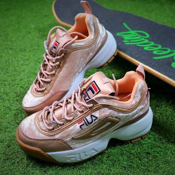FILA Disruptor II 2 Rose Gold FW0165-039 Shoes - Best Online Sale