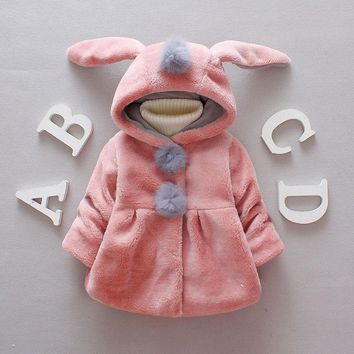 Thicker baby clothes coat jacket baby winter jacket infant Newborn Baby Girls Boys Clothes Long sleeves Hooded Clothing 6-24M