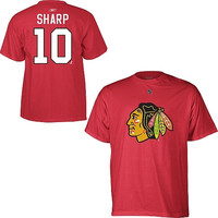 Patrick Sharp Chicago Blackhawks Reebok Name and Number Player T-Shirt – Red
