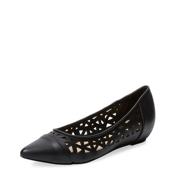Gabyy Perforated Leather Flat