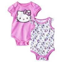 Hello Kitty™ Newborn Girls' 2 Pack Bodysuit - Pink