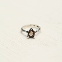 Free People Womens Tear Drop Stone Ring - Earth
