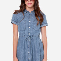 Jean Says Washed Denim Shirt Dress