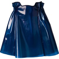 Julien David shiny ruched skirt