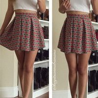 Floral Essential Flared Skirt