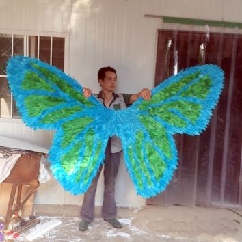 COSPLAY Costume High Quality Butterfly Feather Wings Models Stage