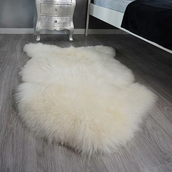 Original GIANT XL White Genuine Natural Sheepskin Rug Exclusive rug