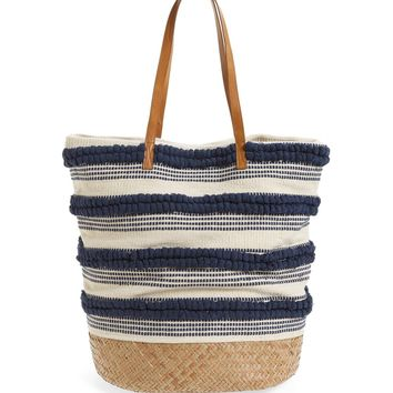 Sole Society Woven Bottom Tote | Nordstrom