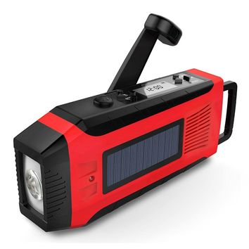 Solar and Hand Crank Phone Charger, Light and Radio AM/FM/NOAA