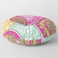 Happy-Go-Boho Floor Pillow by inspiredimages
