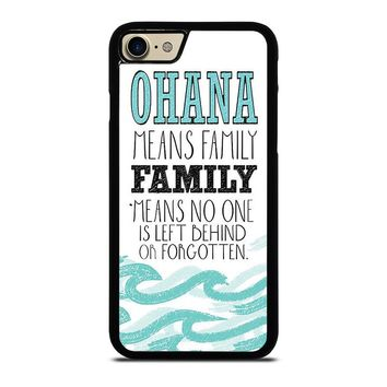 OHANA FAMILY QUOTES STITCH LILLO iPhone 7 Case Cover