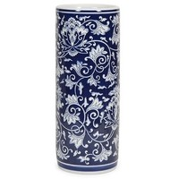 Blue and White Floral Pattern Umbrella Stand