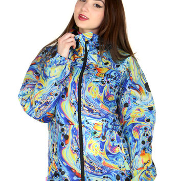 OIL SPILL ZIP-UP JACKET