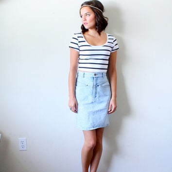 25% OFF SPRING SALE Vintage Small// jean skirt high waist retro// Calvin Klein