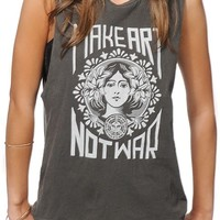 Obey Make Art Not War Muscle Tee