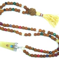 Nine Planets Navgraha Healing Heart Chakra Mala Beads Yoga Reiki Pendent Necklace -Empowers Good Effects of All Planets