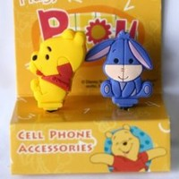Big Winnie the Pooh + Eeyore Earphone Jack Accessory Dust Plug Stopper Ear Jack 3.5mm for iPhone 4G 4S 5 / iPad / ipod touch