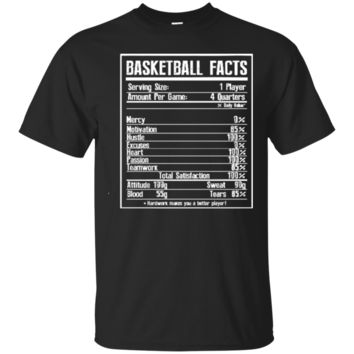 BASKETBALL FACTS basketball girlfriend and cute Cool Tshirt Design 7217