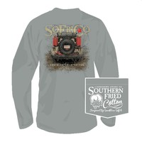 Muddin' Long Sleeve Tee in Chicken Wire by Southern Fried Cotton