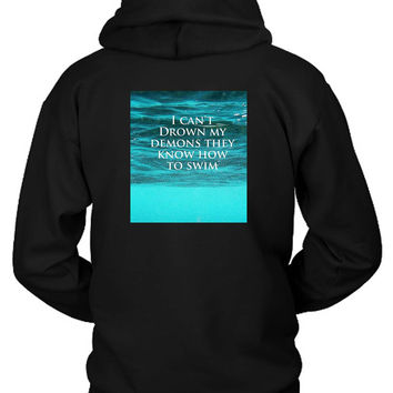 Bring Me The Horizon Can You Feel My Heart Demons Hoodie Two Sided