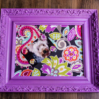 Memo Board, Fabric Covered Framed Magnetic Board