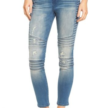 True Religion Halle Super Skinny Moto Jeans (Blue City) | Nordstrom