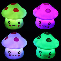 Romantic Colorful LED Mushroom Night Light Dream Bed Lamp Home Illumination CAHU