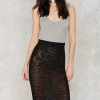 Nasty Gal Fresh Start Mesh Skirt - Black
