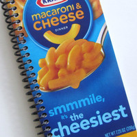 Journal Notebook CHEESE PASTA Macaroni & by PortElizabethVillage