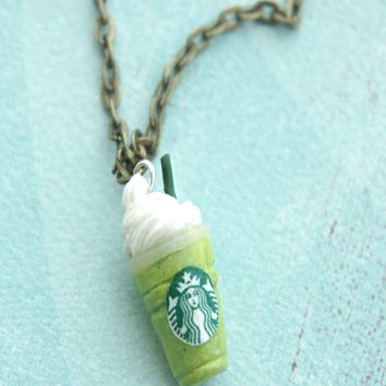 Green Tea Frappuccino Necklace