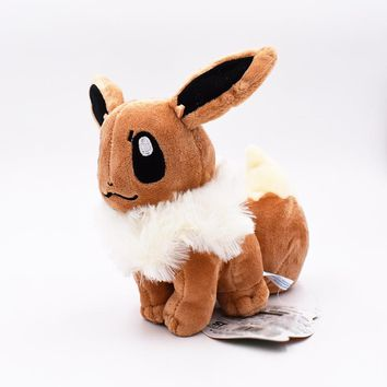 Hot Sale Eevee Peluche 15-18cm Plush Toy For Doll Stuffed Animal Gifts Toys For Children Fans Juguetes Free Shipping