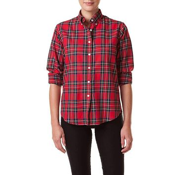 Ladies Button Down Flannel Shirt by Castaway Clothing
